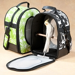 A&E Soft Sided Carrier Small Birds Black