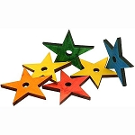 Zoo Max Colorful Pine Stars 12 pack